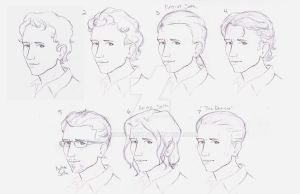 Character Designs: Seth's Hair by MariaArnt