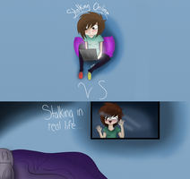 Stalking Online v.s Stalking in real life by Mohxi