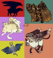 Winged Beasts by kbird1994