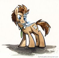 Sketch - Dr. Whooves by SpainFischer