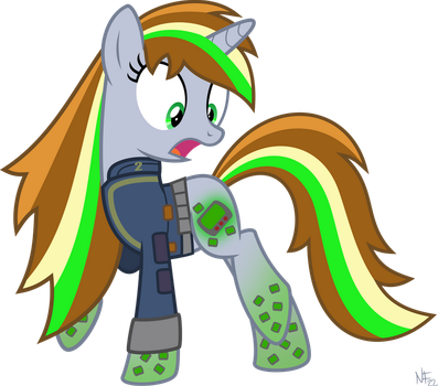 Rainbow Power Littlepip by StarlessNight22