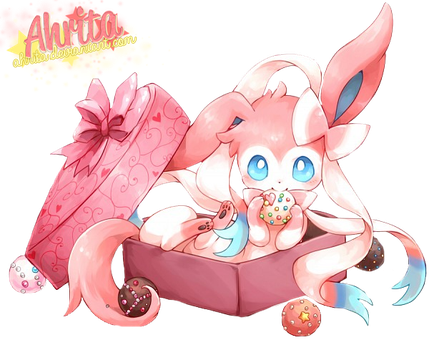 Sylveon - Render by Ahrita