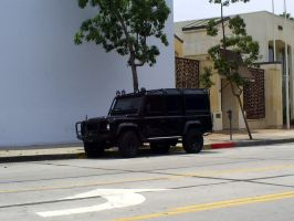 BLACKED OUT Land Rover 110 by Partywave
