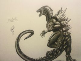 Godzilla- new drawing by Monstermadness18