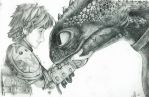 Hiccup and Toothless by SofieWernerHenriksen