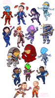 Chibi Mass Effect by regeener