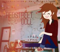 RedStreet doll - MNS by MrsNarniaSwag