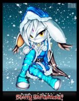 Christmas Gift: Neige the Cat by GodzillaJAPAN