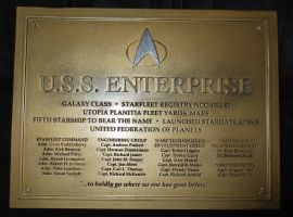 Dedication Plaque USS Enterprise-D by Euderion