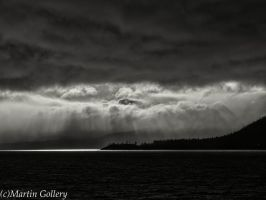 Stormy Tahoe sunset by MartinGollery
