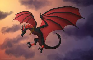 Red-winged Wyvern by BritneyPringle