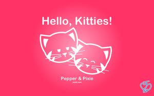 Hello Kitties - Pepper + Pixie by JinxBunny