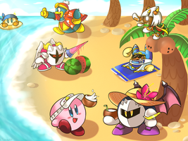 At the beach by Crashkirby888