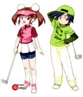 Golf Game Characters 2 by Goldsickle