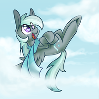Up in the Clouds by LittlePinkAlpaca