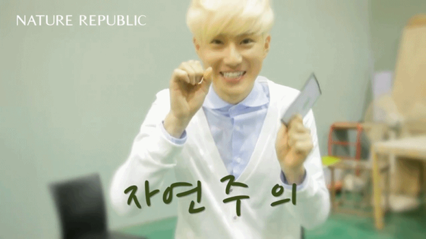 [GIF] Suho's Aegyo - Nature Rep BTS (2_Unedited) by imawesomeee03