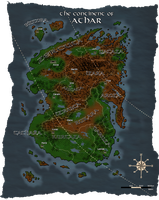Azarian Stories: Map of Athar by ARVEN92