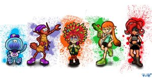 Splatoon Characters by rubtox