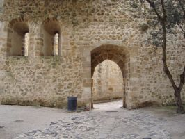 Castle Wall by Lusitana-Stock