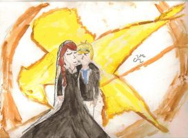 Katniss and Peeta Wedding KISS 2? WC by lizzy905
