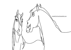 Horse Base: 6 by LineArtForFree