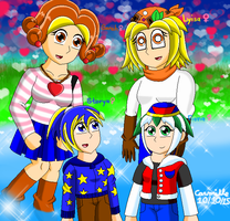 Lyisa, Sarah, Starya and Fiona by SapphireGemNetwork