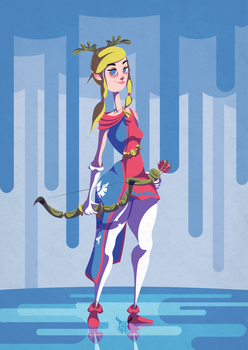Redesigned Zelda for Character Design Challenge by LeoRenahy