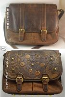 Upcycling an old leather messenger bag :] by barlogg