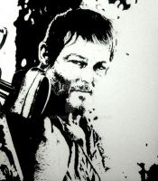 NORMAN REEDUS (DARYL DIXON) THE WALKING DEAD INKED by BUMCHEEKS2