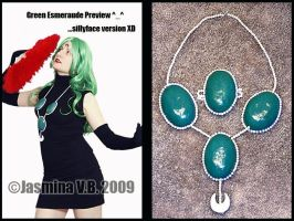 Green Esmeraude Jewelry by LilithScream