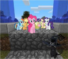 The main six and Blair meet me outside my mansion by Darkussdude3901