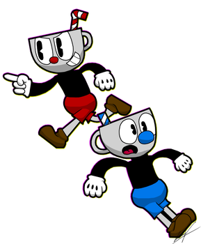 Cuphead And Mugman. by GSVProductions