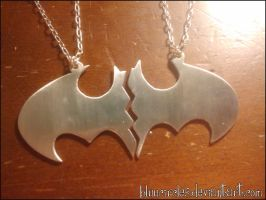 Batman Logo Necklace by bluucircles