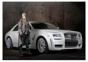 The Hobbit: Rolls Royce Ghost by momofukuu