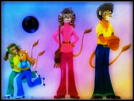 1970's Lion Family by FlapperFoxy