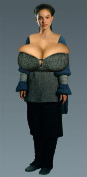 Natalie Portman Padme Breast Expansion Morph by Zealot42