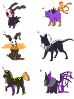 Halloween Adopts  :DISCOUNT: by SpookyBjorn