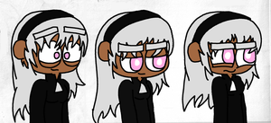 3 Tanya expressions by KidsAndKittehs