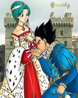 Vegeta Bulma English Royalty by gwendy85