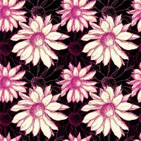 Seamless flower pattern by ElStrie