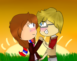 .:Hetalia:. No more than holding hands by Ninja-of-Stars