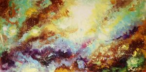 Cosmos Abstract Painting by Kasia1989