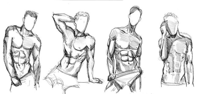 Male nude scetch #8 by leasel