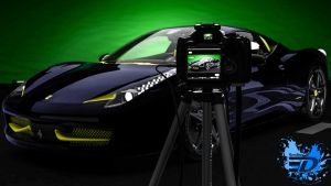 Ferrari 458 through the camera by Rooboy3D