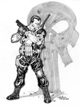 Punisher - drink'n'draw march 27th 2013 by SpiderGuile