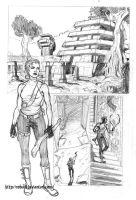 Temple in the forest Page 1 pencils by Robus2