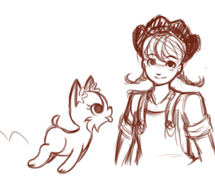 Cowgirl and her dog by ErikaNegi