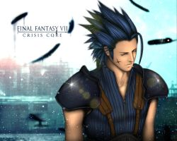 FF VII CC Zack wallpaper edit by shallete