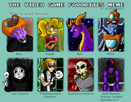 The Video Game Favorites Meme 2 by Steggmatt