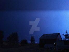 Lightning Over the Barn by KingSexyStudKitty